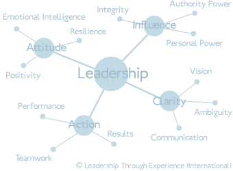 Leadership through Experience Training Development Spider Diagram